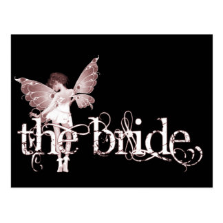 White Dress Fairy Red - The Bride Post Cards