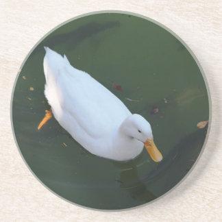 White duck beverage coaster