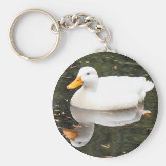 White Duck Keyschains Key Ring