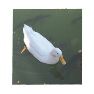 White duck notepad
