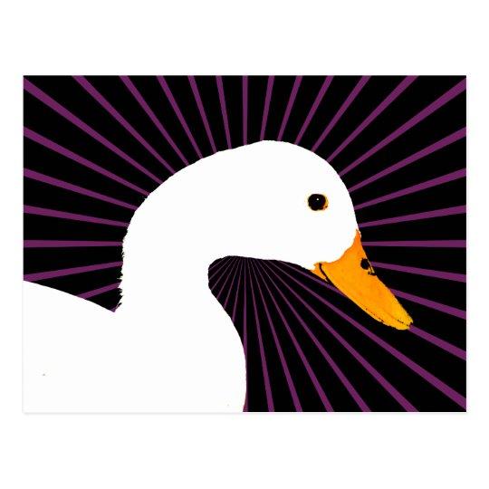 White Duck Pop Art Postcard