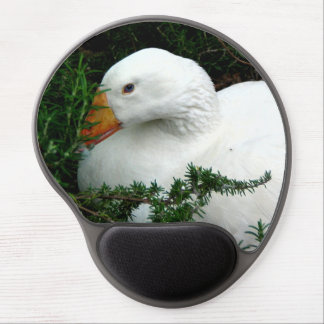 WHITE DUCK RESTING GEL MOUSE PAD