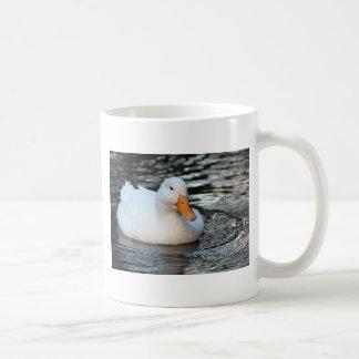 White Duck swimming in a creek Coffee Mug