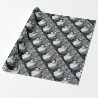 White Duck swimming in a creek Wrapping Paper