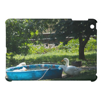 White Ducks and a Pool iPad Mini Covers