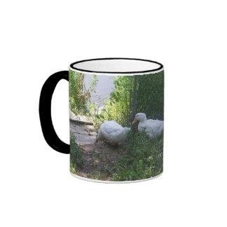 White Ducks on a Ramp Mug