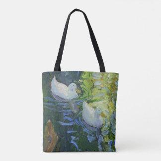 White Ducks Tote Bag