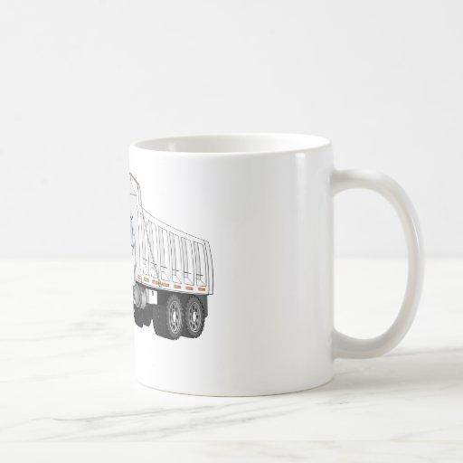 White Dump Truck Cartoon Coffee Mugs