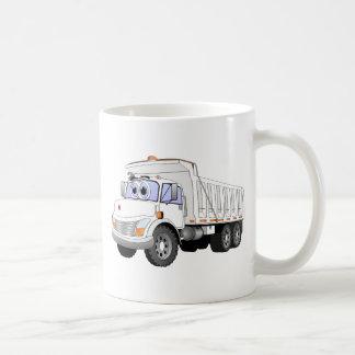 White Dump Truck Cartoon Mugs