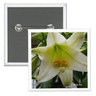 """White """"Easter"""" Lily Pin"""