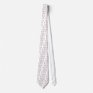 White egg bunny tie