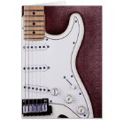 White Electric Guitar 2 Card