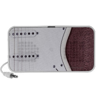 White Electric Guitar 2 Mp3 Speakers