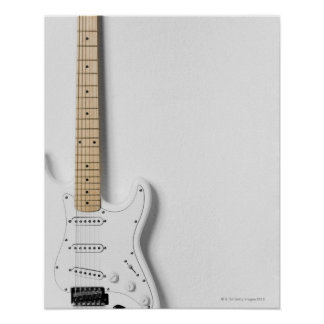 White Electric Guitar 3 Posters