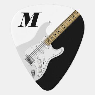 White Electric Guitar Plectrum