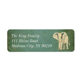 White Elephant Address Label