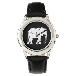 White Elephant Beautiful Cool Elegant Simple Chic Watch