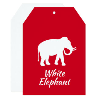 White Elephant Invitations & Announcements | Zazzle.com.au White Elephant Christmas