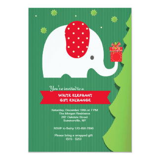 White Elephant Gift Exchange Party Invitation