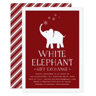 White Elephant Party Invitations Amp Announcements Zazzle