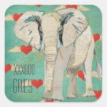 White Elephant Hearts Sticker