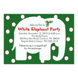 White Elephant Holiday Party Invitations