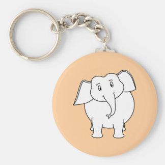 White Elephant Keychains