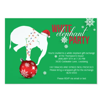 White Elephant Party Invitation | Green