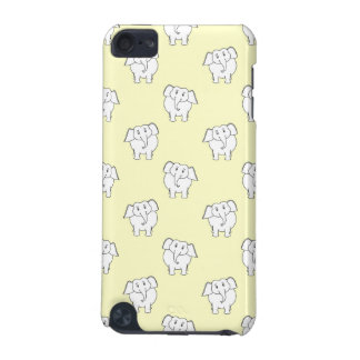 White Elephant Pattern on Yellow. iPod Touch 5G Case