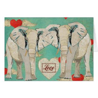 White Elephants Love Card