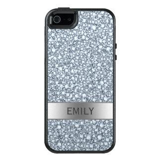White Encrusted Diamonds Glitter Pattern OtterBox iPhone 5/5s/SE Case