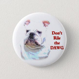 White English Bulldog button