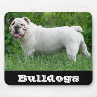 White English Bulldog Puppy Dog Mousepad