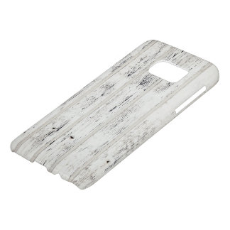White Eroded Wood Pattern Samsung case