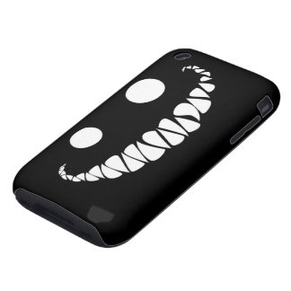 white eyes and teeth on black background iPhone 3 tough cases