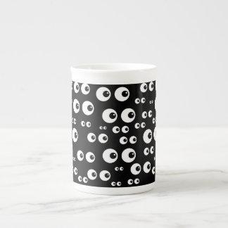 White Eyes/Black Background Specialty Mug