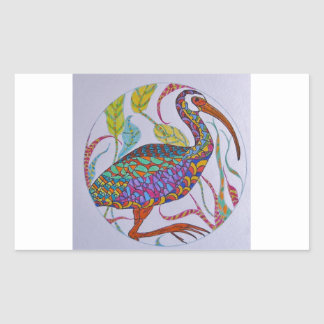 White-faced Ibis Rectangular Sticker