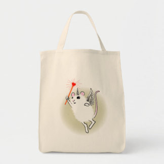 White Faerie Mouse Tote Bag