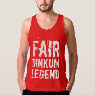 White Fair Dinkum Legend Singlet