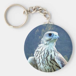 White falcon basic round button key ring