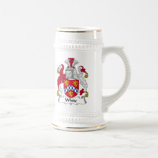 White Family Crest Beer Stein