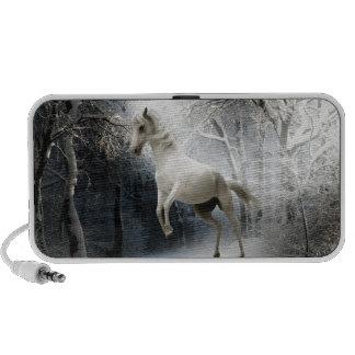 White Fantasy Horse Travelling Speaker