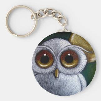 WHITE FANTASY OWL Keychain