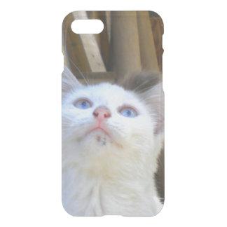 White Farm Cat Blue Eyes iPhone 7 Case