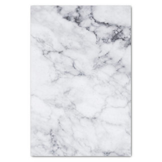 White Faux Marble With Gray Pattern Tissue Paper