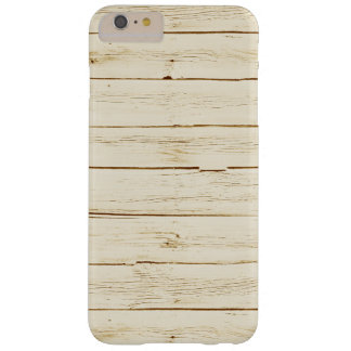White Faux Wood Barely There iPhone 6 Plus Case