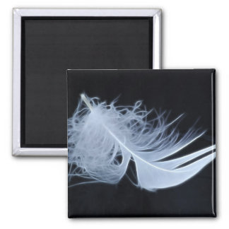 White feather - angelic by nature magnet