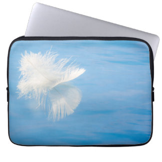 White Feather Reflects on Water | Seabeck, WA Laptop Sleeve