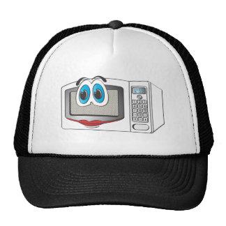 White Female Cartoon Microwave Trucker Hats
