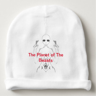 White Female E.T. Sketch on Beanie from TPOTB Baby Beanie